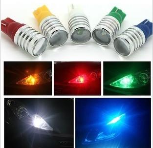 T10 7W rogue band width light lens genuine R3 chip width light super bright LED lights w5w small car(China (Mainland))