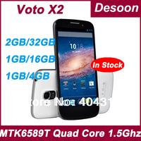 Original VOTO X2 phone In stock MT6589T 1GB RAM 16G ROM Quad Core 5.0 Inch IPS 1080*1920 Android 4.2 13MP Umi x3 phone