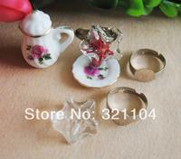 Free ship! 50sets/lot 20mm Pentagram Glass Bubble & silvering Ring setting NEW