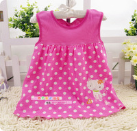 New born baby girl dress girl print dress brand new casual dress baby&kids baby clothing 50colors 1-8Months 5pcs/lot 100%cotton