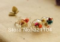 Mix Design Glass Bubble Glass Pendant& Ring Base set DIY Jewelry Findings