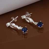 Free Shipping Wholesale 925 Sterling Silver Earring,925 Silver Fashion Jewelry,Austria Crystal Earrings SMTE474