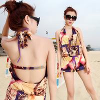 bikini swimwear bikinis set new 2014 Three piece     piece  swimming equipment chinese style bikini1425  swimsuit 15ps