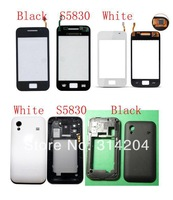 100% Top Quality Guarantee for Samsung S5830 Touch Screen Digitizer+Battery Back Cover Housing Door by AM DHL EMS(1PC)