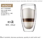 HOT SALE!!! double layers glass drinking cup Aegis tea cup exquisite handcrafted double-wall heat resistant tea cup