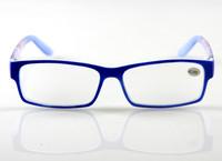 Reading Glasses Black & Blue Unisex Square Fashion Frame Readers