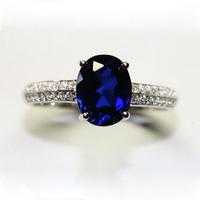 Natural tanzanite ring platinum ring certificate