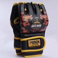 Half Finger Gloves Training Equipment Boxing Gloves Fight Gloves Sanda Gloves For Kickboxing MMA Muay Thai Free Shipping