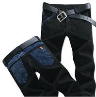 05 Spring Summer style Korean Slim / zipper men's jeans / fashion s casual cotton pants feet