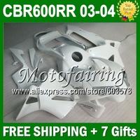 For F5 ALL WHITE  HONDA CBR600 RR 03-04 CBR600F5 CBR 600 600RR CBR600RR JM314 Gloss white 03 04 F5 2003 2004 Body Fairings