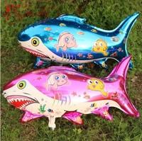 Free Shipping Shark Foil Balloons Wholesale 80CM Sea Fish Helium Balloon