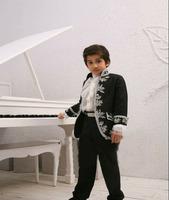 2014 new  Children's suit Embroidered four sets Flower children dresses Stage performances clothing Costume boy 4 set