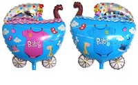 HOT! Baby Carriage Balloon Happy Birthday Party Decoration For Kids Helium Balloons Wholesale
