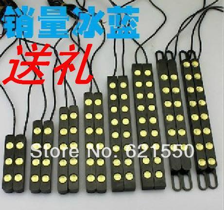 NEW Universal LED Car Daytime Running Fog Rogue Black Reversing 12v Supper White,Yellow,Red,Blue High Power Lamp Lights Refires(China (Mainland))