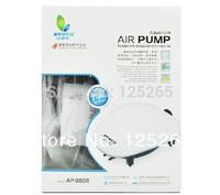 ALEASE Power 4.1W 3.3*2L/MIN Adjustable Aquarium Super Silent Air PumpAP-8806 2ways Outlet