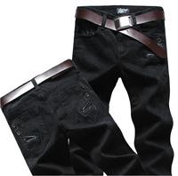 14 Spring Summer style Korean Slim / zipper men's jeans / fashion s casual cotton pants feet