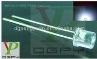 6000-6500K White 5MM led flat top led diode 3.0-3.5V 20mA(CE&Rosh)