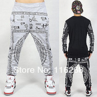 2014 NEW men printed drop crotch harem skinny sweatpants sports baggy pants mens casual hip hop outdoor silm bandana trousers