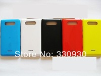 100% Original New Mobile Phone Back Shell  Housing Door Battery Cover Case+ Side Key Buttons For Nokia lumia 820 ,5 Colors,MC820