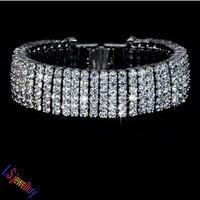 Luxious Elegant White Gold plated Top Quality hundreds pcs 0.1 carat Swiss AAA Cubic Zirconia Diamond Tennis Bracelet