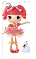 2014 hot!wholesale 1pc lalaloopsy case hard back cover for iPod touch 4+free shipping