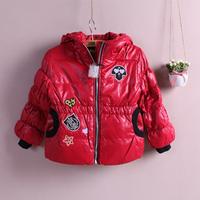 Child down coat 2014 children's clothing winter female child down coat medium-long children outerwear
