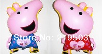 new Peppa Pig Balloons 10pcs/lot In Stock 40*30CM New Product Helium Foil 10pcs/lot As Children's Toy Party Props 32 orders