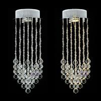 Free Shipping Crystal pendant lamps stair  suspending lights dining pendant light  bar balcony small pendant lighting