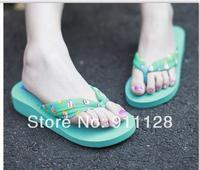 Summer wedges platform female fashion platform slippers flip flops sandals bohemia