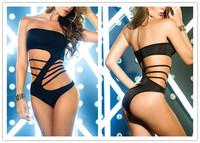New Arrive 2014 Sexy Bandage Swimwear Women Push Up One Piece Swimsuit Vintage Hollow Bathing Suit Fashion Brand Slim Beachwear