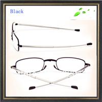 +200 power Fold reading glasses ultra-light glasses folding reading glasses free shipping reading glasses Black reading glasses