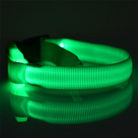 Free Shipping 2014 Lefdy Hot Pet Dog Cat LED Glow Collar Nylon Electric Training Collars Products for dogs or Cats