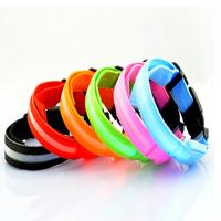 Free Shipping 2014 Lefdy Pet Safety LED Dog Collar Night Flashing Glow Light  Nylon Screen Collar