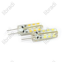 10pcs G4 24 SMD 3014 1.5W LED White/Warm White Car Light Bulb Chip DC 12V 120Lumen