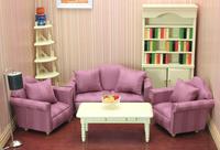 FREE SHIPPING-1:12 Dollhouse doll house purple sofa model