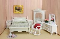 free shipping- Dollhouse doll house elegant white model  1:12