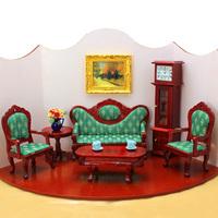 FREE SHIPPING-1:12 Dollhouse doll house model fashion mahogany