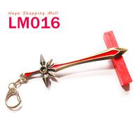 Hot Sale LM016 League of Legends LOL Game Theme Weapons Leona Sword Models Keychain Zinc Alloy Key Chains