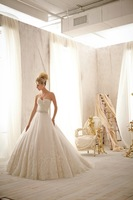 Sweetheart Chapel Train Ball Gown Wedding Dress