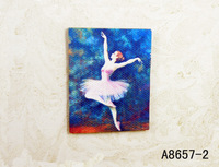 FREE SHIPPING-1:12- Dollhouse doll house model paintings ballet