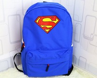 Free Shipping Classic School Bag Teenager Superman Ghildren Canvas Backpack Kids Campus Bags