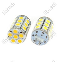 10pcs G4 27 SMD 5050 2.5W LED White/Warm White Car Light Bulb Chip DC 12V 250Lumen