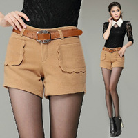 New Fashion Ladies Shorts 2014 Leisure skinny Woolen Shorts Women Winter Overalls, Hot Boots, Pants Sexy Shorts For Women