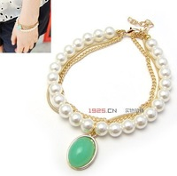 South Korean star green pendant bracelet choke recommend hot pepper with mouth#10060728#D83