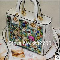 2014 new style  women's handbag diamond bags laptop messenger bag shoulder bag