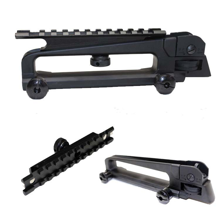 """7/8"""" Picatinny Rail Optics Scope Mount And Flat Top Carrying Handle Fits Airsoft AR-15 M4 Type(China (Mainland))"""