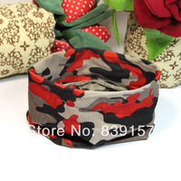20pieces/lot  hair accessories camouflage colors wide elastic headbands for women  Best for yoga & sports ,Free shipping