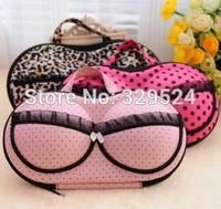 2014 New Fashion Leopard Women Underwear Bra Packing Organizers Travel Bag