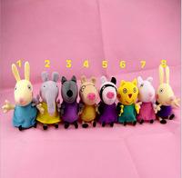 8pcs/Lot New 2014 Peppa Pig Friends Toys Set Washable Stuffed Animals Plush Doll Baby Toy Children Girls Bithday Gifts