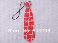 wholesale 12pcs/lot Boy toddle Tie Kids Baby Boy Wedding Necktie Neck Tie chevron red  clothing KP-T15